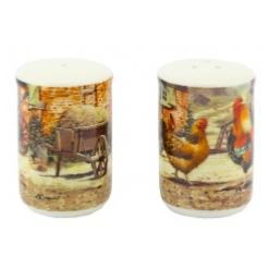 Cockerel and Hen Salt and Pepper Shakers
