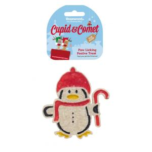 Rosewood Cupid & Comet Paw Licking Festive Treat - Penguin