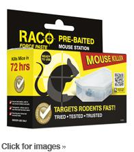 RACO FORCE PASTE  Pre-baited Mouse Station X 2