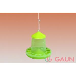Gaun 2kg Plastic Poultry Feeder Green/Lemon