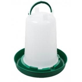 6 Litre Red and White Drinker or Green and White