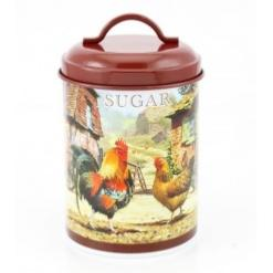 Cockerel and Hen Sugar Canister