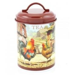 Cockerel and Hen Tea Canister