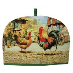 Cockerel and Hen Tea Cosy