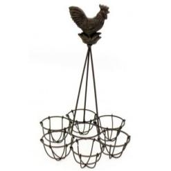 Metal Cockerel Egg Rack
