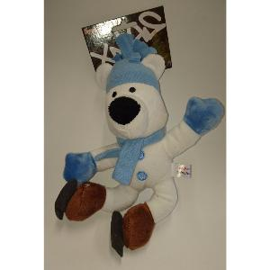 Animate Xmas Squeaks Dog Toy Blue