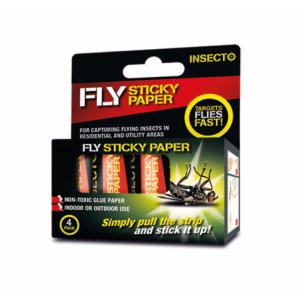 Insecto  Fly Sticky Paper 4 Pack