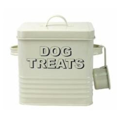 Home Sweet Home Cream Dog Treats Tin