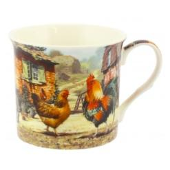 Cockerel and Hen Small Mug